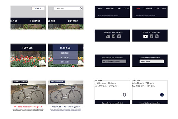 Recycled Cycles Interaction Design